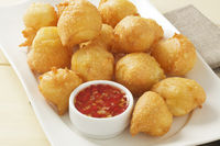 cheese Beignets with chilli dipping sauce