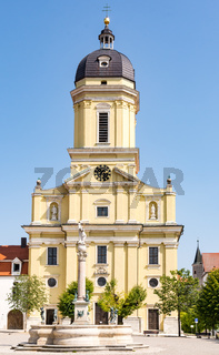 The Hofkirche church in Neuburg