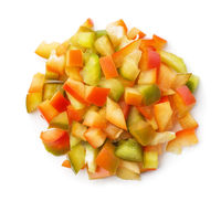 Top view of chopped sweet pepper