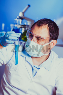 Scientist at the work