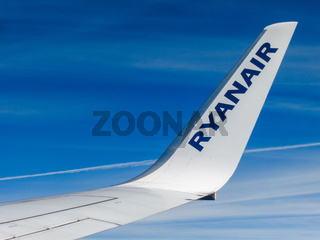 Ryanair wing detail