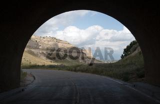 View Road Through Tunnell Scotts Bluff Nebraska