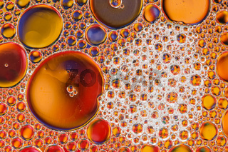 Abstract Macro Oil Bubbles
