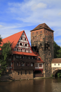 Panoramic view of Old Town in Nuremberg