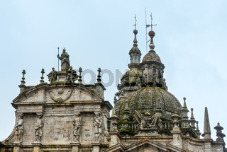 Old church domes in Santiago de Compostela, Spain.