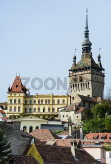 View of Sighisoara town, Romania
