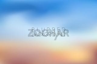 horizontal wide blue sky blurred background. Sunset and sunrise sea blurred background