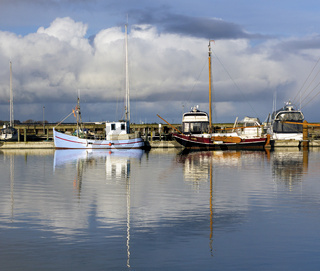 Fishing ships in harbour