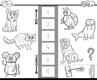 find biggest animal game color book
