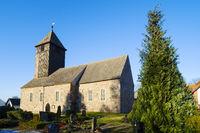 Dorfkirche Leuenberg, Gemeinde Hoehenland, Brandenburg, Deutschland