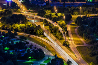 German autobahn road. Munich, Bavaria, Germany