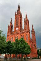 Market Church on Schlossplatz square in Wiesbaden, Hesse, German