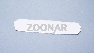 header image with blank strip of paper