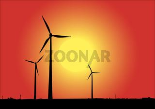 Windpower in der Sonne