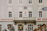 Parole an einer Fassade in Annaberg (DDR 1978)