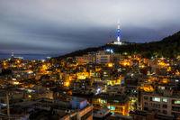 Namsan tower at night