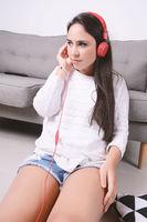 Woman listening music.
