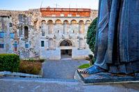 Split old town gate and Grgur Ninski statue famous thumb view