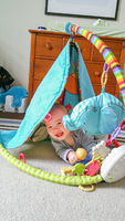 Adorable Chinese and Caucasian Baby Boy Playing On The Floor
