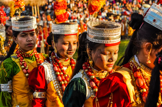 Dancers in Meghalaya