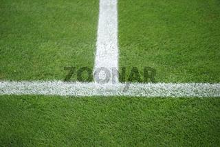 Seitenlinie Fußballfeld