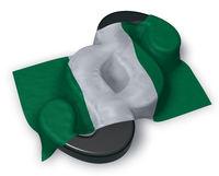 flagge von nigeria und paragraphsymbol - 3d illustration