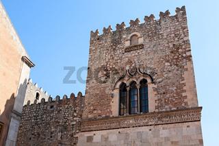 The Saint Catherine church on piazza Badia in Taormina, Sicily, Italy