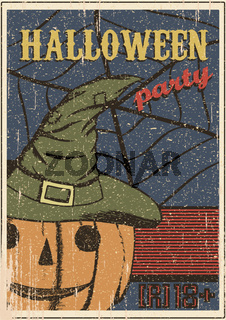 Halloween party vintage Poster