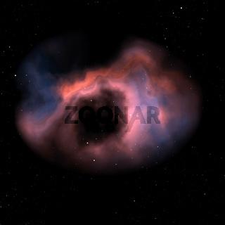 orange nebula in space