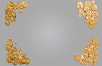 Pure gold coins forming edge of background
