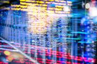Programmcode mit abstraktem Technologie Hintergrund