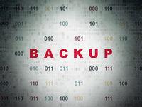 Programming concept: Backup on Digital Data Paper background