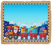 Parchment with Christmas train theme 3