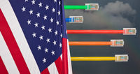 Dark clouds and USA flag in Net Neutrality image