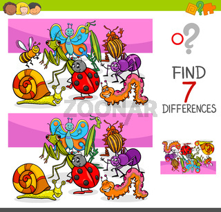 find differences with insects animal characters