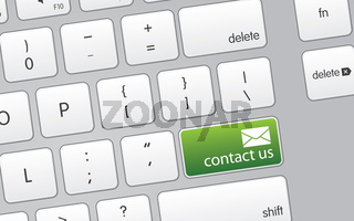 Keyboard with Contact Us Icon