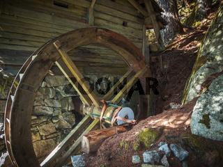 Antriebsrad an Wassermühle