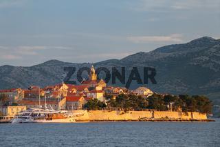 Korcula old town in early morning light, Croatia
