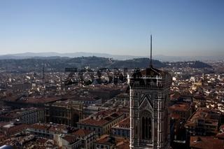 Florenz, Aussicht vom Duomo mit Campanile