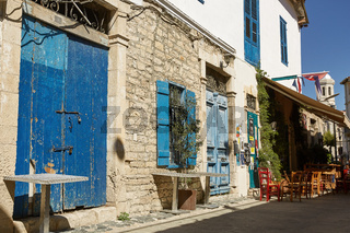Street and local architecture in Limassol, Cyprus