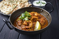 King Prawn Masala with Chapati and Raita