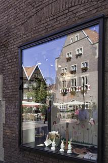 Spiegelbild am Spiekerhof, Münster,  NRW