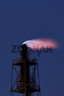 Abfacklungsanlage der TOTAL Raffinerie