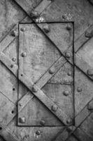 Door in a metal wall