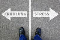 Stress, Burnout Erholung auf Arbeit Gesundheit Businessman Business Konzept Problem