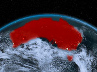 Australia from space at night