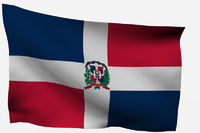 Dominican Republic 3d flag