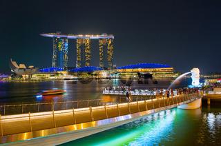 Marina bay overlooking. Singapore