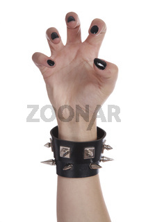 Black nails and bracelet