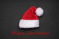 santa claus hat with merry christmas greeting